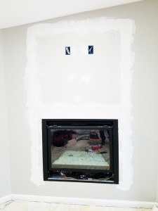 Fire Place Wiring Flat Screen