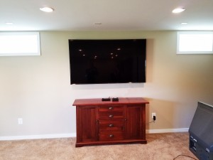 Flat Screen 75 inch Installation