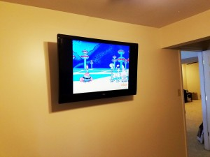 Flat Screen 48 inch Power and Coax Installation